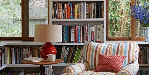 βιβλιοθήκη σαλόνι διακόσμηση