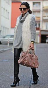 βραδινό ντύσιμο γιλέκο γούνα