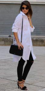 Άσπρο μακρύ πουκάμισο