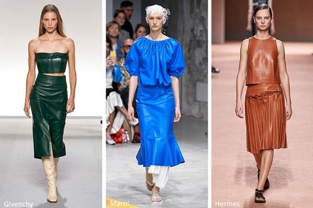 δερμάτινα γυναικεία ρούχα Άνοιξη 2020