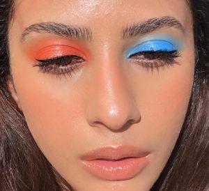 διαφορετικό χρώμα σκιάς στα μάτια