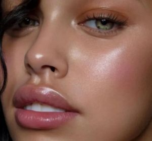 γυαλιστερό δέρμα