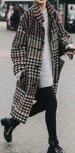Καρό γυναικείο παλτό