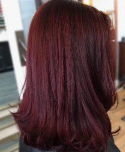 Ίσιο σκούρο κόκκινο μαλλί