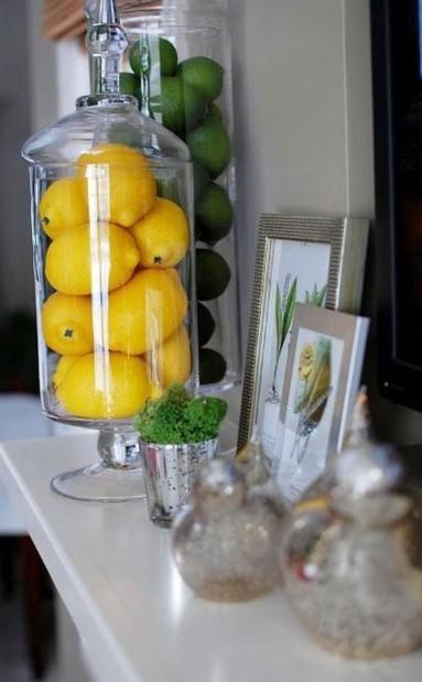λεμόνια σε διάφανο βάζο φέρεις άνοιξη σπίτι