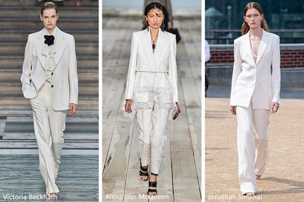 λευκά γυναικεία κοστούμια τάσεις μόδας 2020