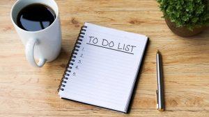 λίστα με υποχρεώσεις