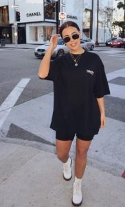 Μαύρη μπλούζα φόρεμα
