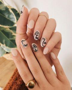 nude νύχια σχέδια πικάσσο