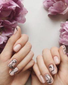 νύχια με σχέδια πίνακα ζωγραφικής