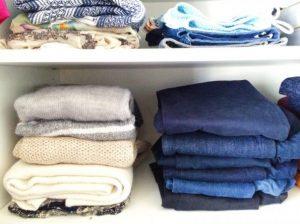 τρόποι για να οργανώσεις τα τζιν παντελόνια