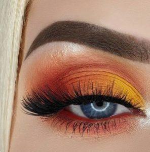 Πολύχρωμη σκιά με πορτοκαλί και κίτρινο