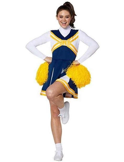 στολή cheerleader μπλε κίτρινο χρώμα