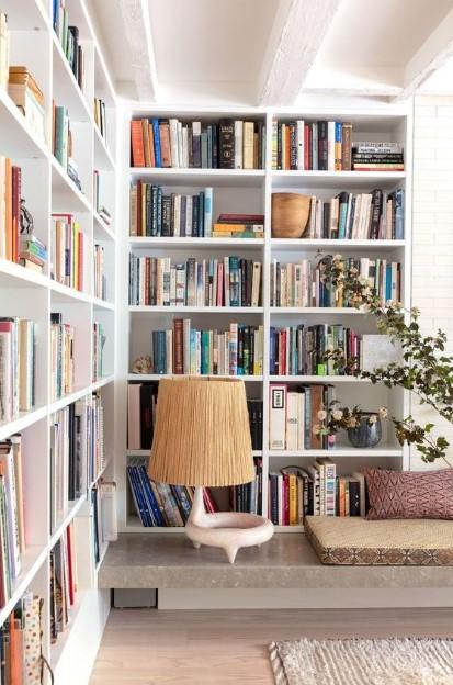 τοίχος βιβλιοθήκη σαλόνι διακοσμήσεις τοίχους σαλόνι