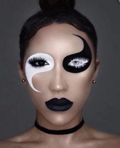 γιν γιανκ εμπνευσμένο ασπρόμαυρο μακιγιάζ