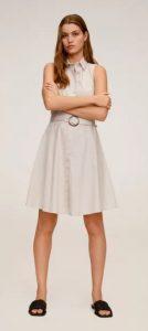 άσπρο φόρεμα άλφα γραμμή