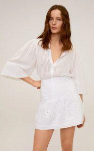 άσπρη καλοκαιρινή φούστα