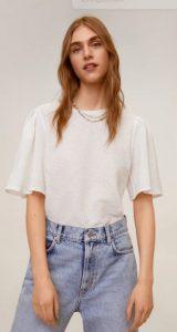άσπρη κοντομάνικη μπλούζα