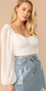 άσπρη μπλούζα
