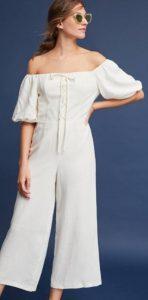 άσπρη ολόσωμη γυναικεία φόρμα