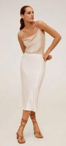 άσπρη πένσιλ φούστα