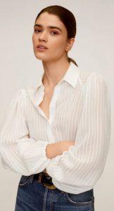 άσπρο γυναικείο πουκάμισο