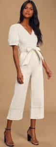 άσπρο jumpsuit