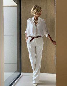 άσπρο πουκάμισο άσπρη παντελόνα