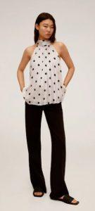 ασπρόμαυρη πουά γυναικεία μπλούζα