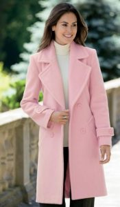 baby pink γυναικείο παλτό