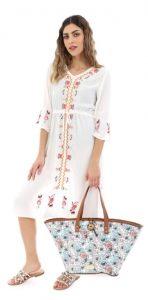 floral γυναικεία τσάντα θαλάσσης