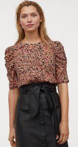 floral καλοκαιρινή μπλούζα h&m