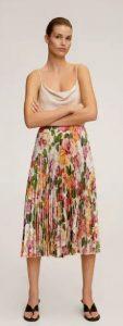 φλοράλ πλισέ φούστα