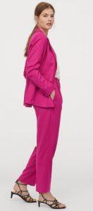 φούξια γυναικείο παντελόνι κοστούμι