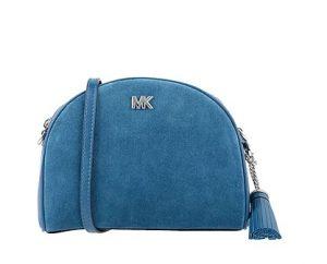 γαλάζια τσάντα οβάλ μικρή