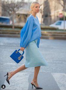 γαλάζιο γυναικείο σύνολο