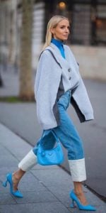 γαλάζιο street style outfit