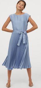 γαλάζιο πλισέ φόρεμα καλοκαίρι 2020