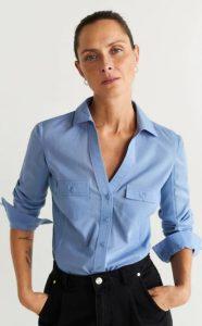 γαλάζιο γυναικείο πουκάμισο