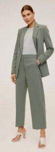 γκρι μπλε κουστούμι γυναικείο