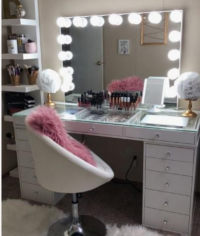 γραφείο μακιγιάζ άσπρο