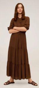 καφέ boho φόρεμα