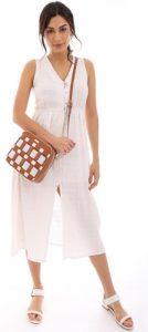 καφέ γυναικεία τσάντα ταχυδρόμου doca