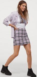καρό μίνι φούστα καλοκαίρι 2020