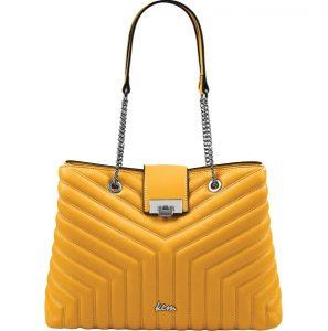κίτρινη τσάντα ώμου αλυσίδα ανοιξιάτικες καλοκαιρινές τσάντες ΚΕΜ 2020