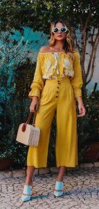 κίτρινο γυναικείο outfit