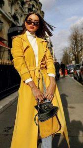 κίτρινο γυναικείο παλτό