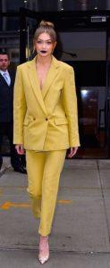 κίτρινο γυναικείο κουστούμι