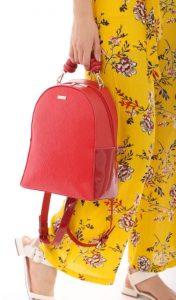 κόκκινη τσάντα πλάτης doca 2020