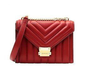 κόκκινη τσάντα χρυσή αλυσίδα